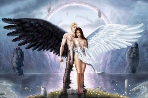 Ángel blanco y ángel negro