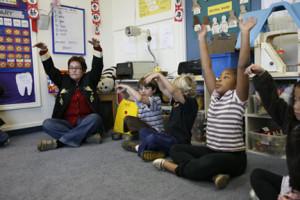 Meditación en el colegio