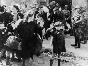 Judios detenidos en Varsovia