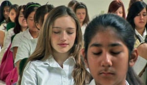 meditación en la escuela