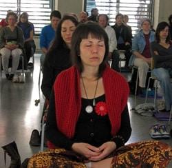 Meditación Sin Fronteras sigue un curso más en el Pou de la Figuera. Barcelona