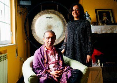 Ramón Leonato y Monica Reyes profesores de meditación de la fundación IFSU y la Sociedad Española de meditación