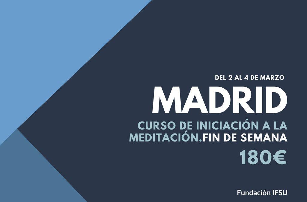 Curso de iniciación a la Meditación y el Mindfulness en Madrid.