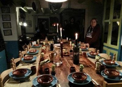 Cena en el Ashram de la Creatividad