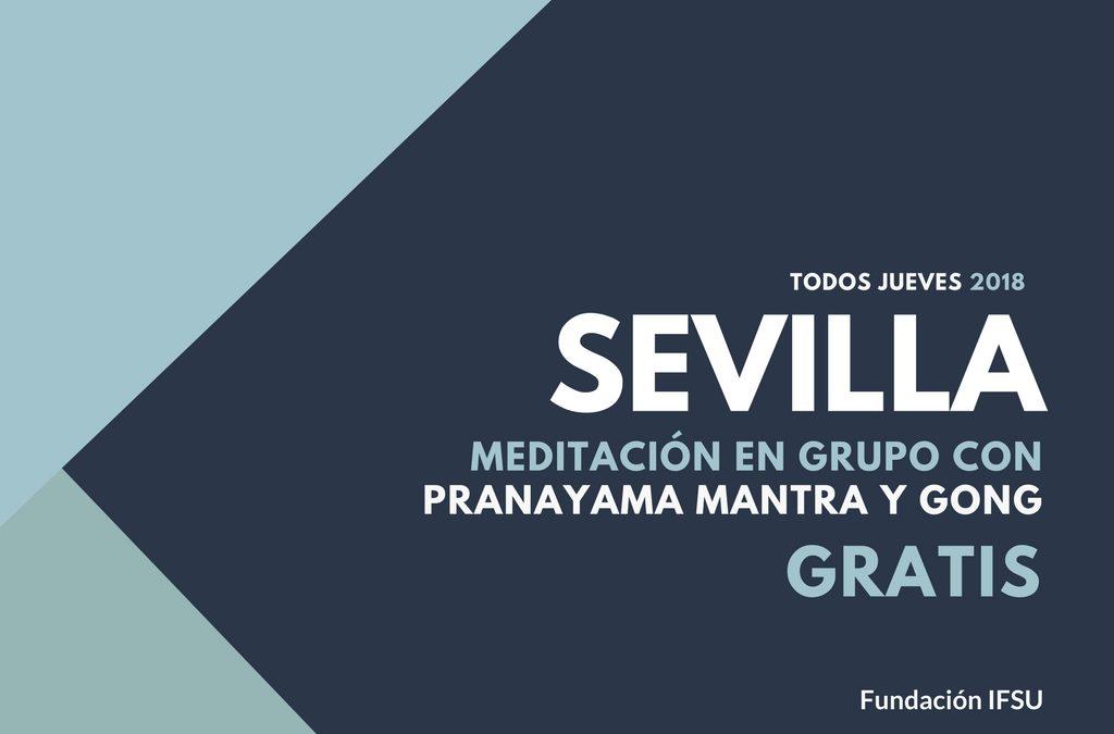 Meditación en Grupo con Pranayama Mantra y Gong en Sevilla