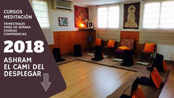 """Cursos de meditación y mindfulness en Riudoms. Tarragona. Centro -> """"El Cami del desplegar"""""""