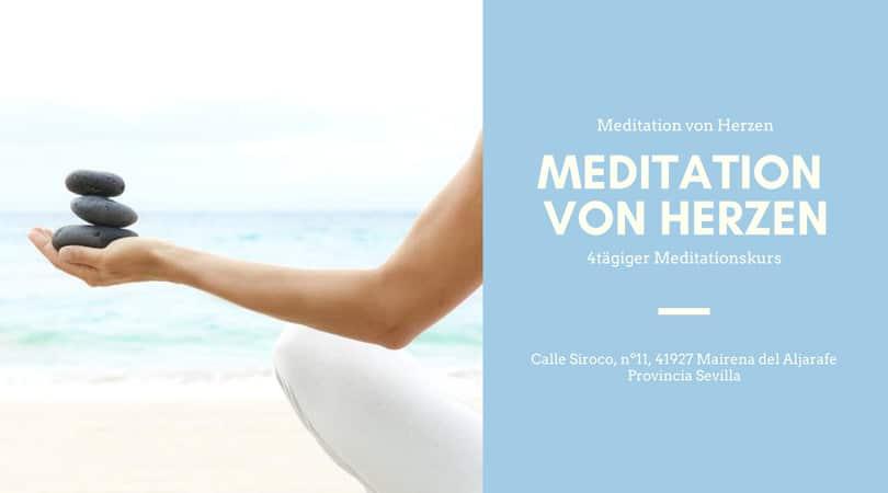 Curso de meditación en alemán de 4 días en Sevilla. Módulo P01 | Meditation von Herzen