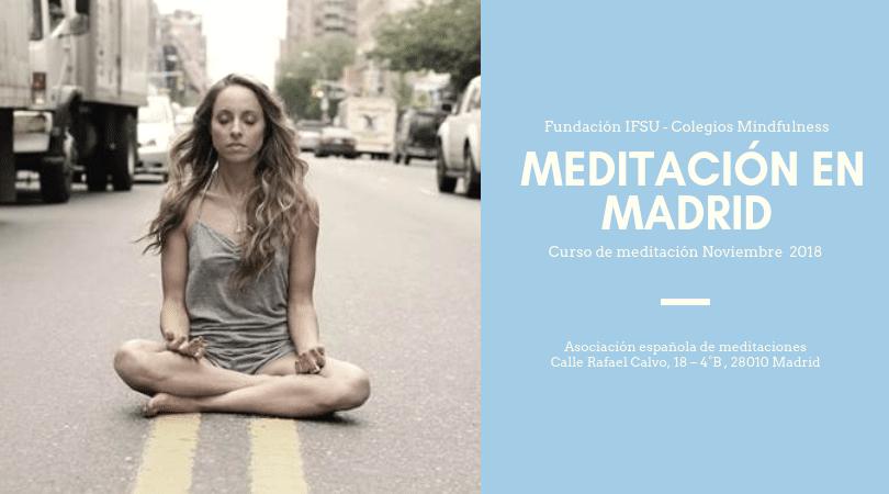 Curso trimestral de iniciación a la meditación en Madrid