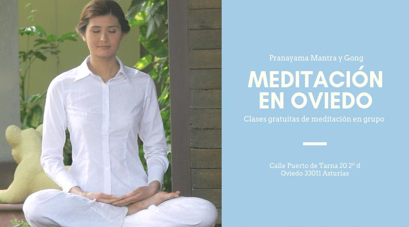 Clases de Meditación Gratuitas en Oviedo. Pranayama, Mantra y Gong